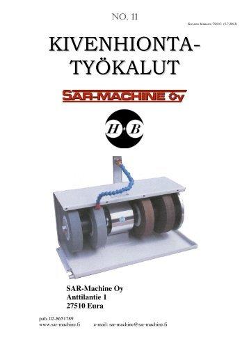 Kivenhiontalaitteet - SAR-Machine Oy