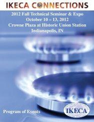 2012 Fall Technical Seminar & Expo October 10 – 13, 2012 ... - IKECA