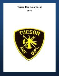Tucson Fire Department 1976 - Greater Tucson Fire Foundation