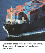 Container ships sail all over the world. They ... - Continental Press