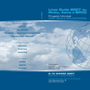 Linee Guida 2007 su Rinite, Asma e BPCO - Clinica malattie ...