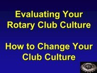 Club Culture Slideshow - Rotary Leadership Institute