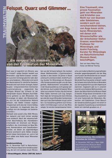 Felspat, Quarz und Glimmer ... - Birseck Magazin
