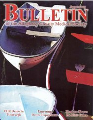 August 2009 Bulletin - Allegheny County Medical Society