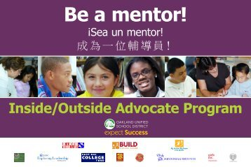 Be a mentor! - Oakland Unified School District