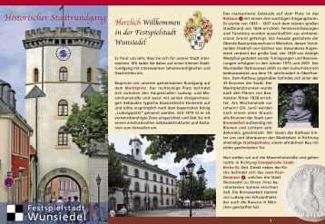 Historischer Stadtrundgang - Wunsiedel