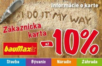 Informácie o karte - bauMax