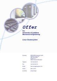 Offer For University of Ljubljana Mechanical Engineering Linux ...