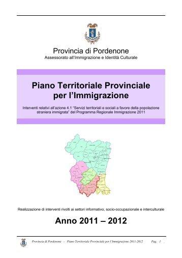 Piano Territoriale Provinciale per l'Immigrazione - Provincia di ...