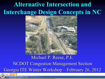 Alternative Intersection and Interchange Design Concepts in NC