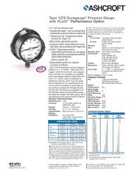 Type 1379 Duragauge® Pressure Gauge with PLUS! - Temp-Press Inc
