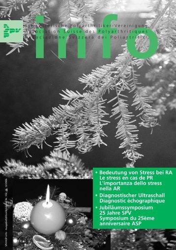 info Nr. 102 - Schweizerische Polyarthritiker Vereinigung