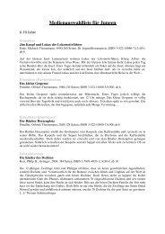 Medienauswahlliste für Jungen 6-10 Jahre