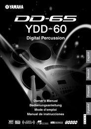 1 Drücken Sie die Taste - Yamaha Downloads