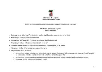 Sociale - Provincia di Cagliari