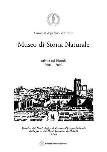 Museo di Storia Naturale - E-prints Archive - Home - Università degli ...