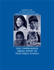 2002 Comprehensive Annual Report on Texas Public Schools