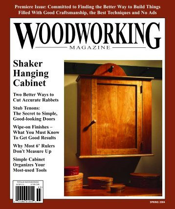 Woodworking Magazine, Spring 2004 - Popular Woodworking ...