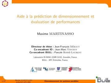 Aide à la prédiction de dimensionnement et évaluation de ...