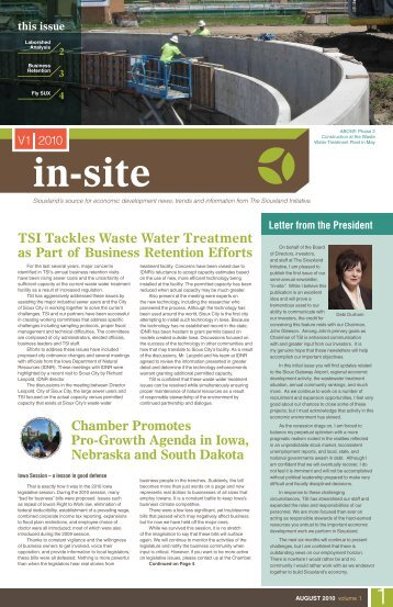 TSI Tackles Waste Water Treatment as Part of Business Retention ...