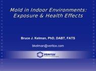 Mold in Indoor Environments: Exposure & Health Effects