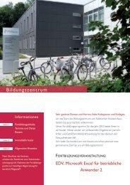 EDV_Microsoft-Excel-2 - Städtisches Krankenhaus Kiel
