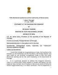 Remarks by Minister of State for External Affairs of India Shashi ...