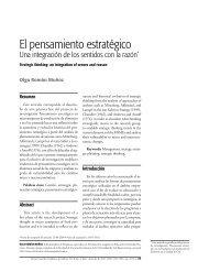 El pensamiento estratégico - Universidad de San Buenaventura Cali