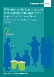 Women's political participation and economic ... - International Alert