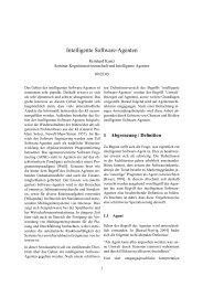 Intelligente Software-Agenten - Reinhard Kuntz