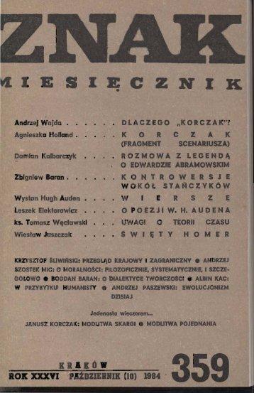 Nr 359, październik 1984 - Znak