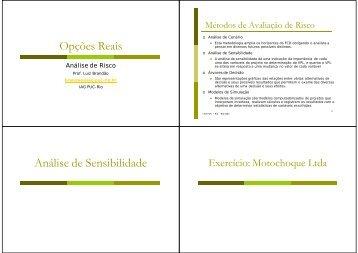 Análise de Risco - IAG - A Escola de Negócios da PUC-Rio