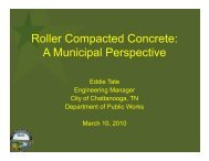 RCC for Streets and Local Roads - American Concrete Pavement ...