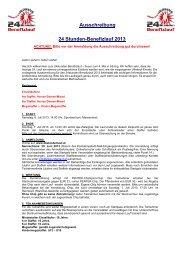 Ausschreibung - Wörschacher 24 Stunden-Benefizlauf