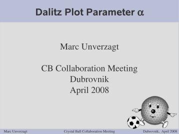 Dalitz Plot Parameter α - A2 Mainz