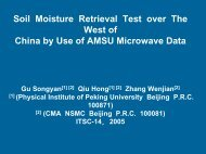 Soil Moisture Retrieval Test over The West of China by Use of AMSU ...