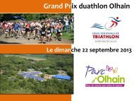 Plaquette Grand-Prix - Ligue de Triathlon Nord Pas De Calais
