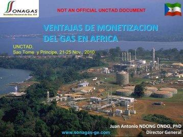 Problemas resueltos con la monetización del gas - Unctad XI
