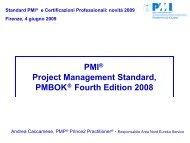 PMI® Project Management Standard, PMBOK Fourth ... - PMI-NIC
