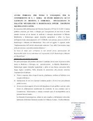 avviso pubblico, per titoli e colloquio, per il conferimento di n. 1 ...
