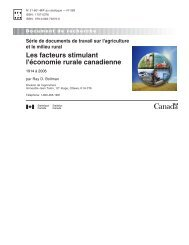Les facteurs stimulant l'économie rurale canadienne - Statistique ...