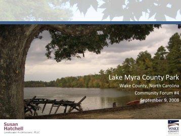 Lake Myra County Park - Wake County Government