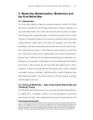 3. Modernity, Modernisation, Modernism and the First World War
