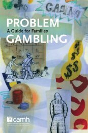 Problem Gambling - A Guide for Families (PDF) - ProblemGambling.ca