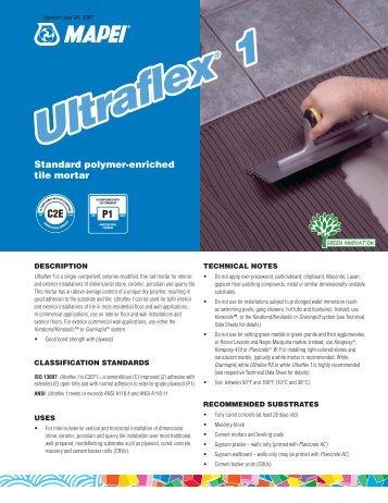 Ultraflex 1 Ultraflex 1 - Northland Construction Supplies