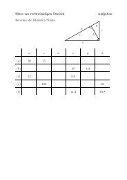 Sätze am rechtwinkligen Dreieck Aufgaben Berechne die ... - gxy.ch