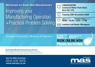 Improving your Manufacturing Operation +Practical ... - SWMAS