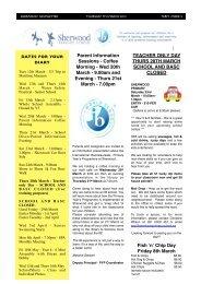 7 March 2013 Added - Sherwood School