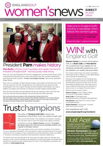 England Golf women's enews issue 55, March 2013