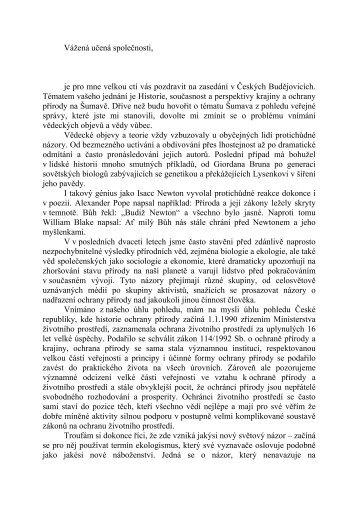 Šumava z pohledu veřejné správy - Učená společnost České ...